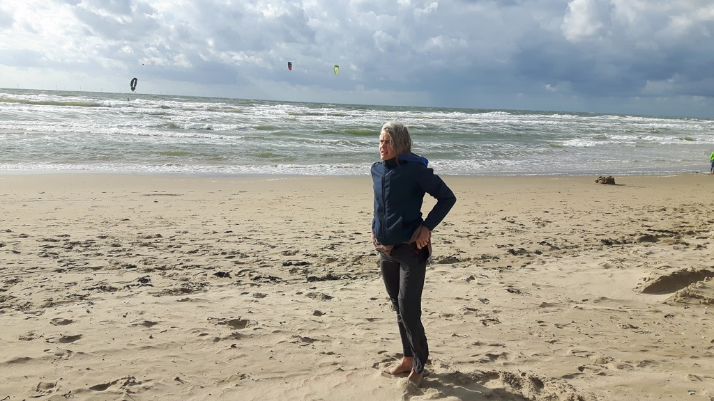Judith at the beach, Castricum