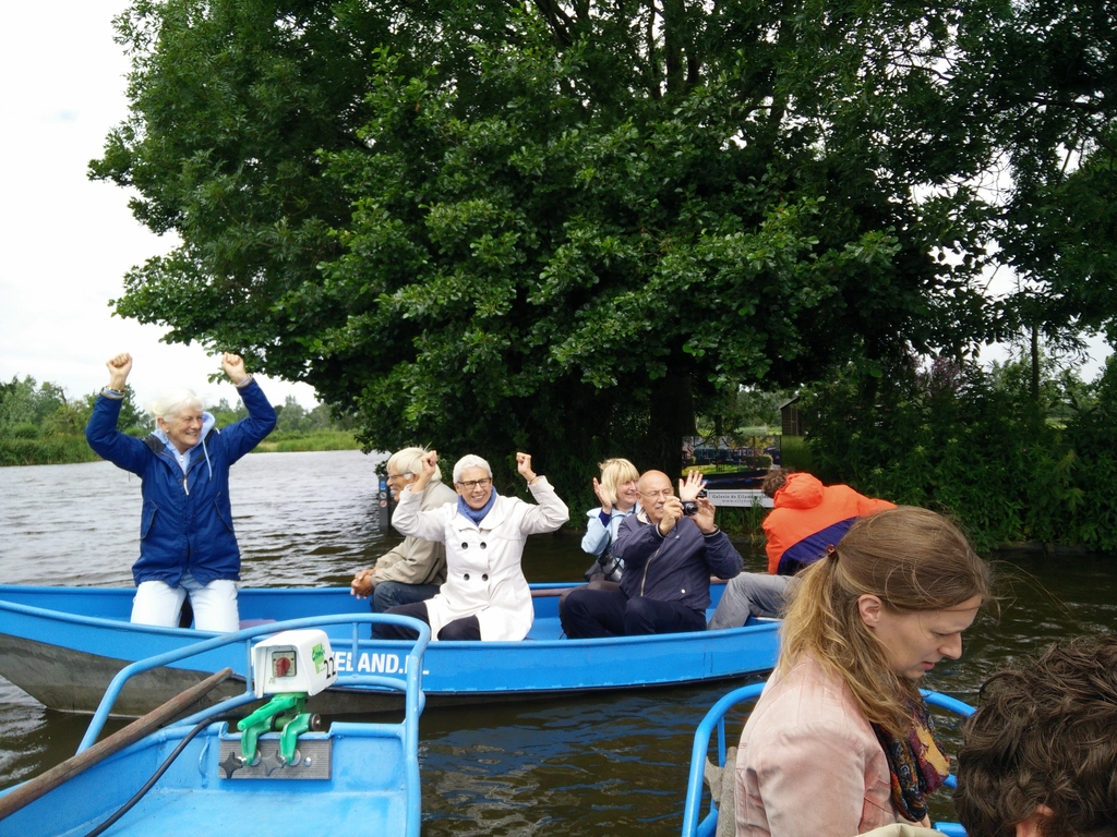 Hiring a boat on the lake of Alkmaar