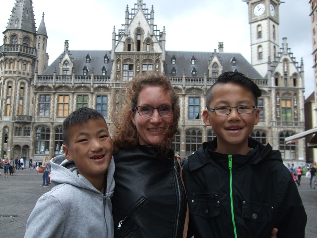 Wilma with the boys in Gent 2016