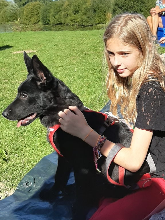 Youngest daughter with our dog Baka (2019)