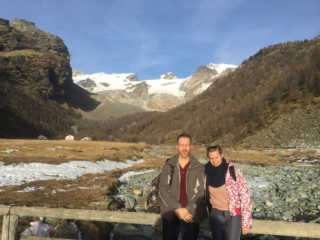Italian Alps (dec 2015); Marcel and Maaike