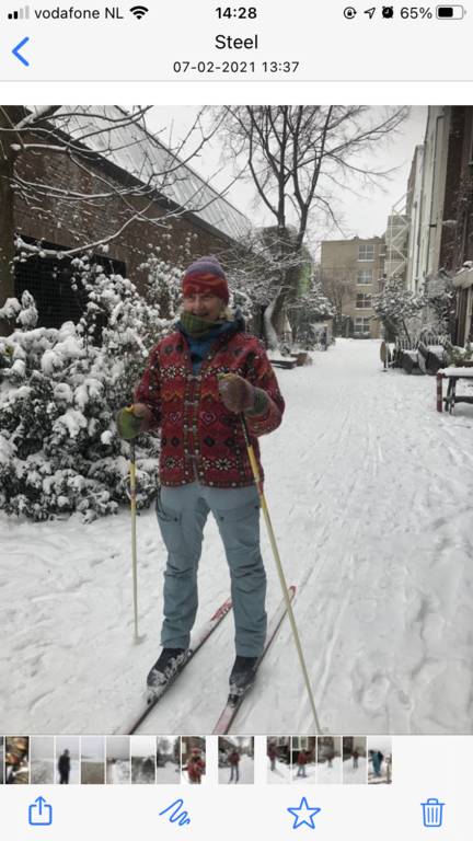 Skiing in the centre of Amsterdam