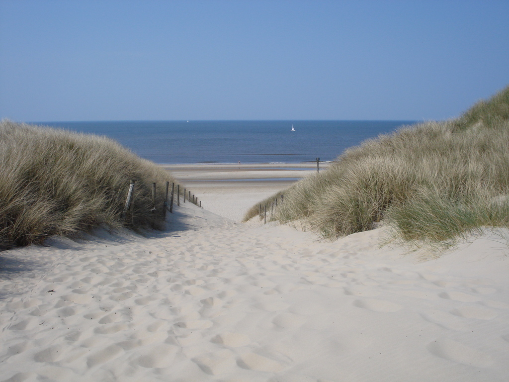entrance to the beach when cycling or walking through the dunes