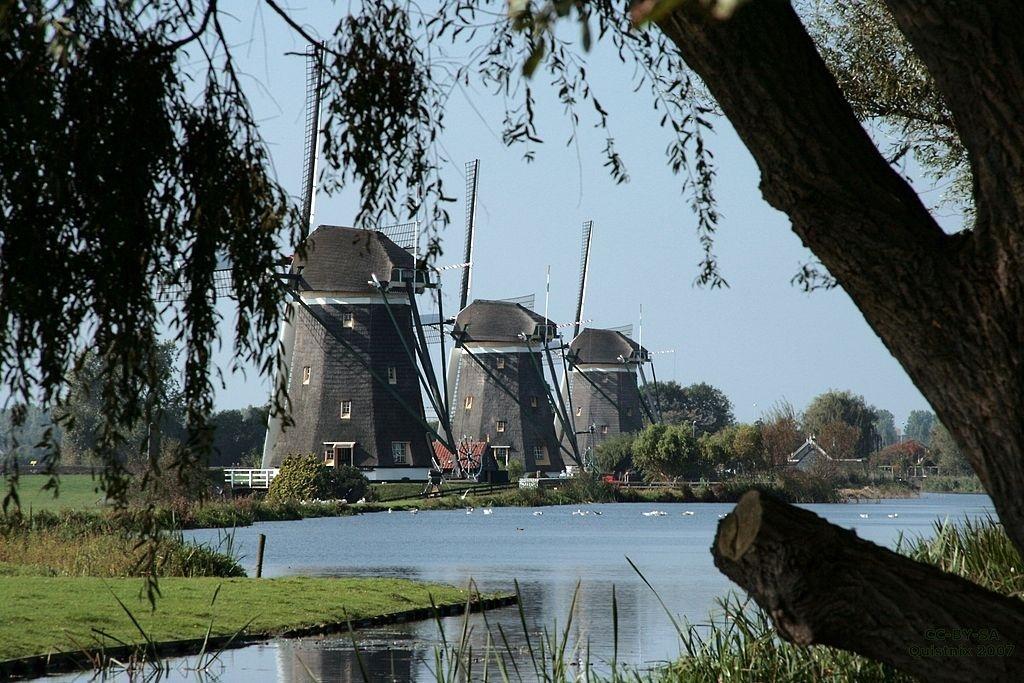Three windmills nearby us