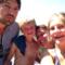 Diederik, Casper, Heleen and Elisabeth on holiday.