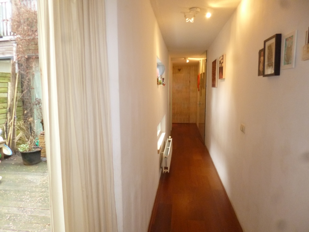 hallway to the back of the house