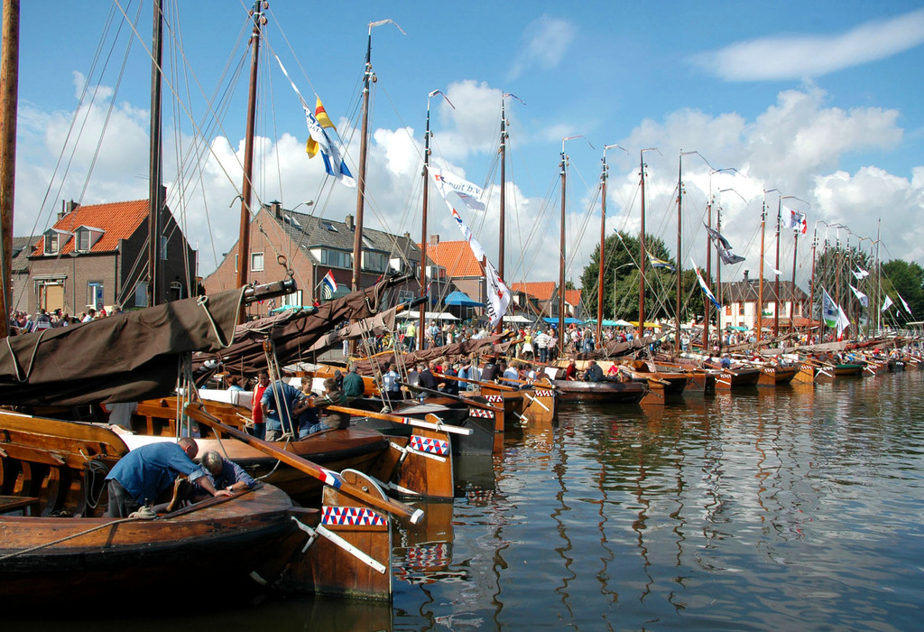 Old ships in neighbouring town Harderwijk