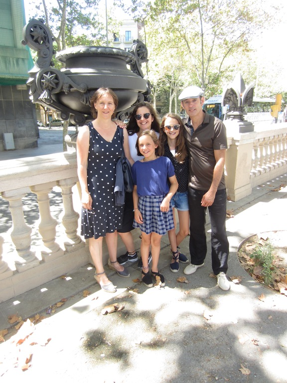 our family in Barcelona