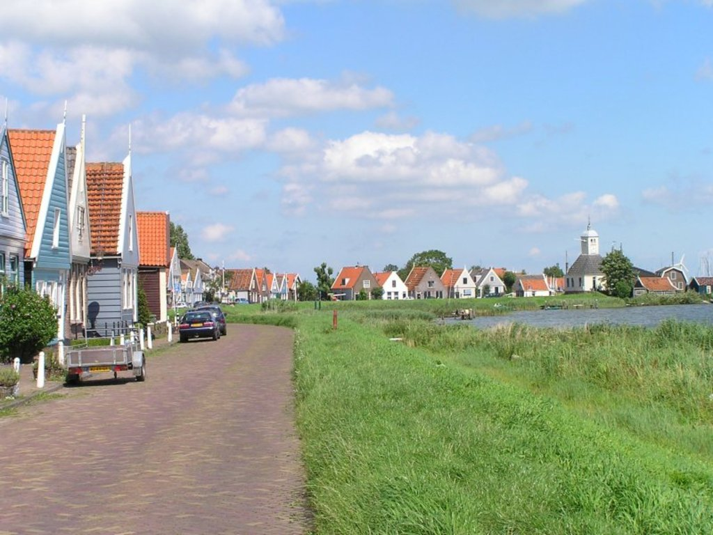 Durgerdam, one of the villages near us, with characteristic dike houses