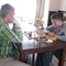 Theo and Daniel playing chess.