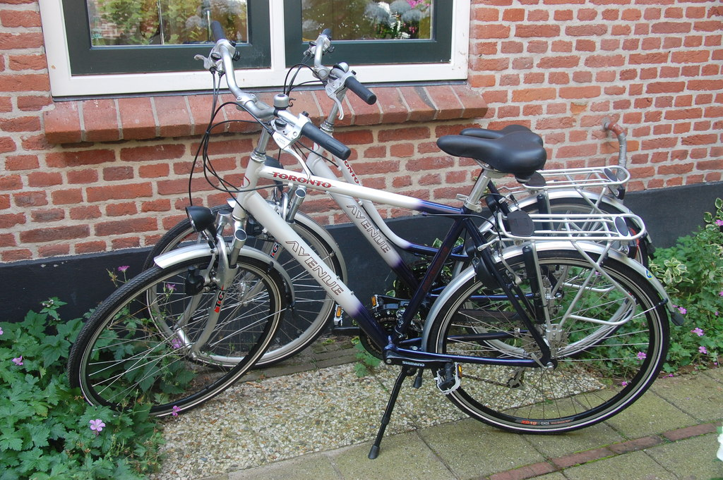 We have different bicycles you can use (5 adult ones and two children bikes)