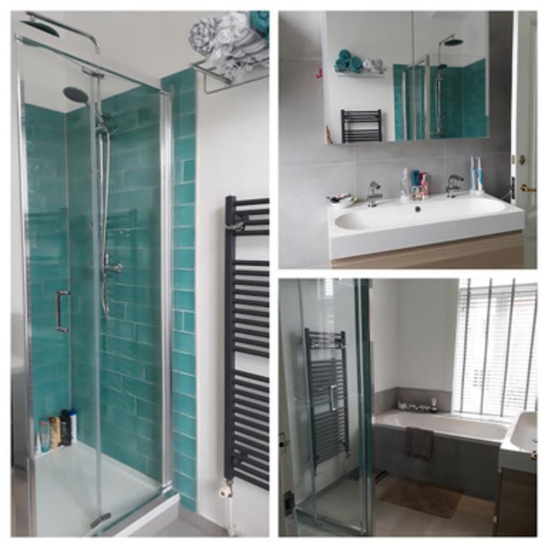 familie badkamer, onlangs gerenoveerd