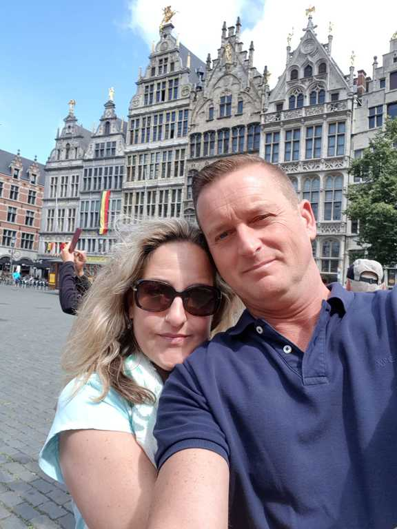 Antwerp 2018 my husband and I!