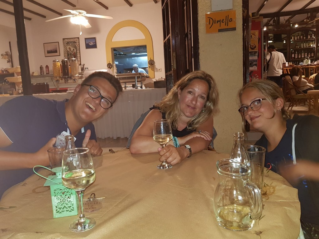 in greece last year david and Anna and me,