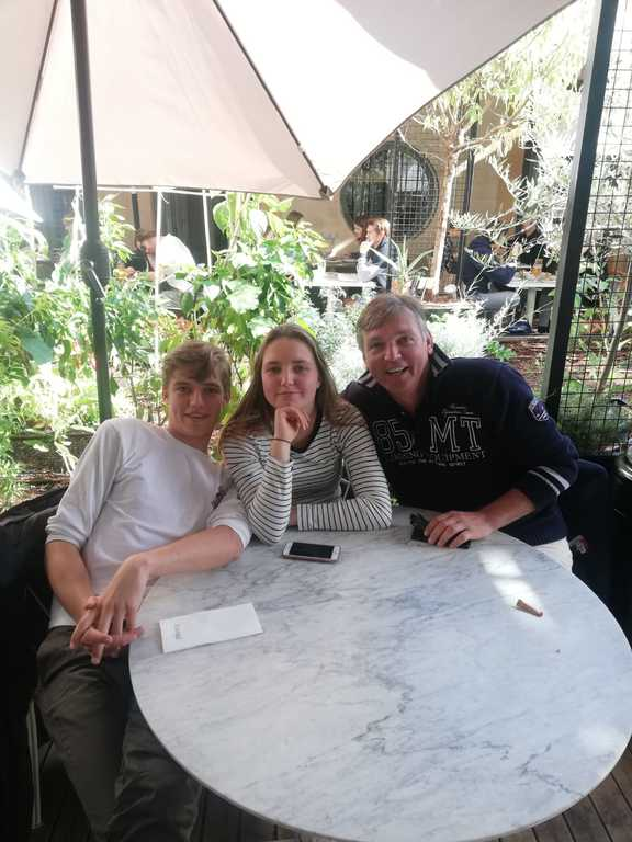 Tijmen, Merel and  Benno in Barcelona (2018)