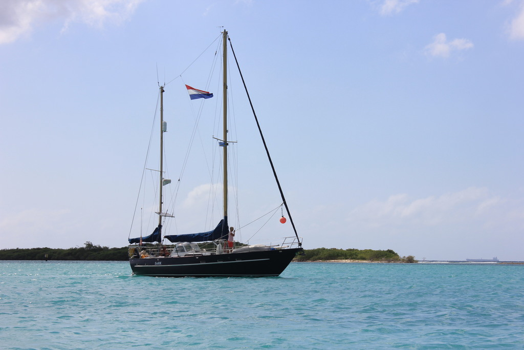 our sailboat in Aruba