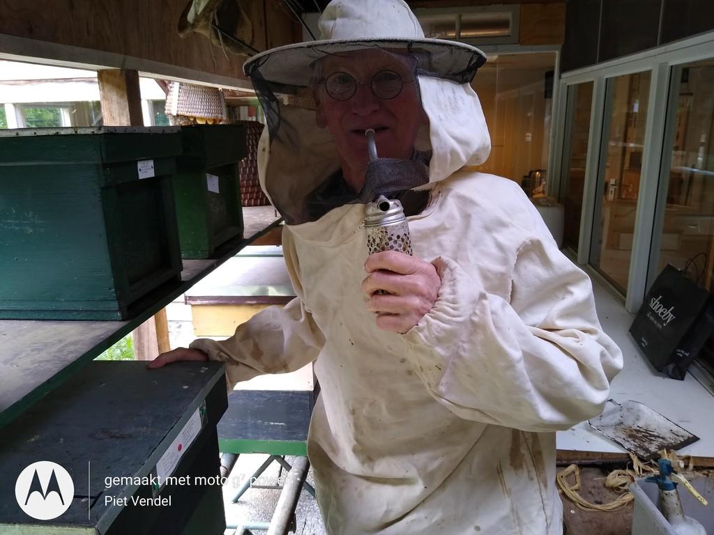 Beekeeping is one of Piet's hobbies