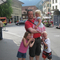 Trond and the children at Interlaken, Switzerland
