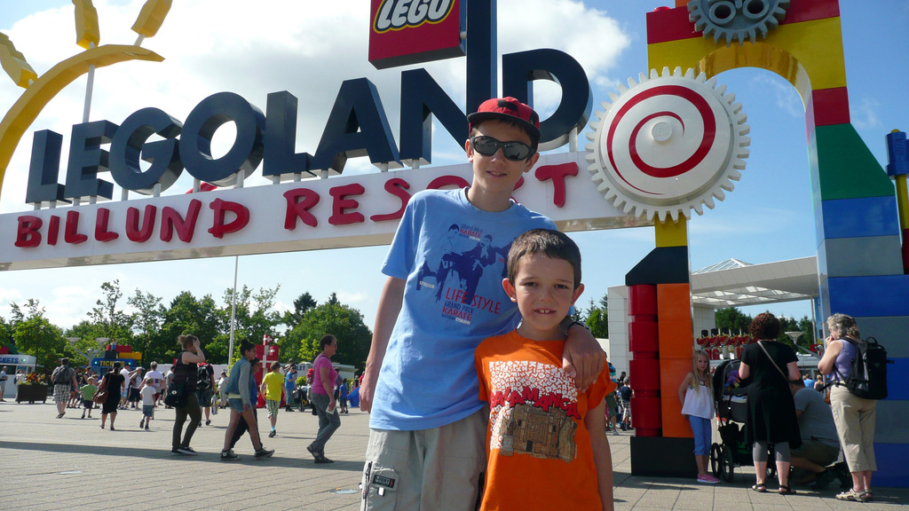 Our boys in Legoland, Denmark, 2013
