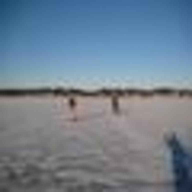 Iceskating at Lake Mälaren.