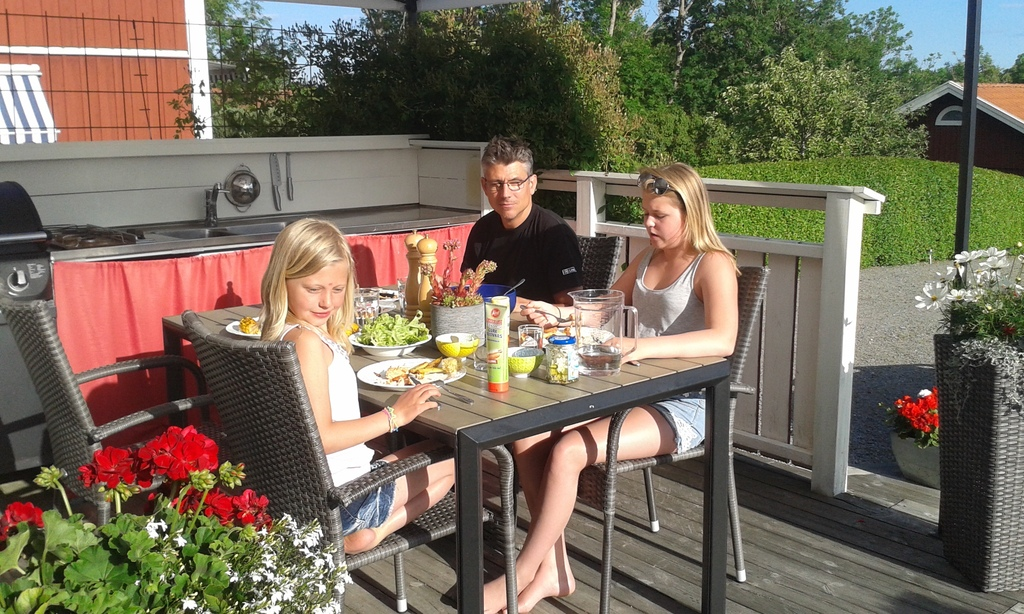 Summer lunch at our sunny terrace.