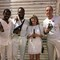 New Year celebrations in Cartagena, Colombia. Albert, Harry, Britt and Tommie