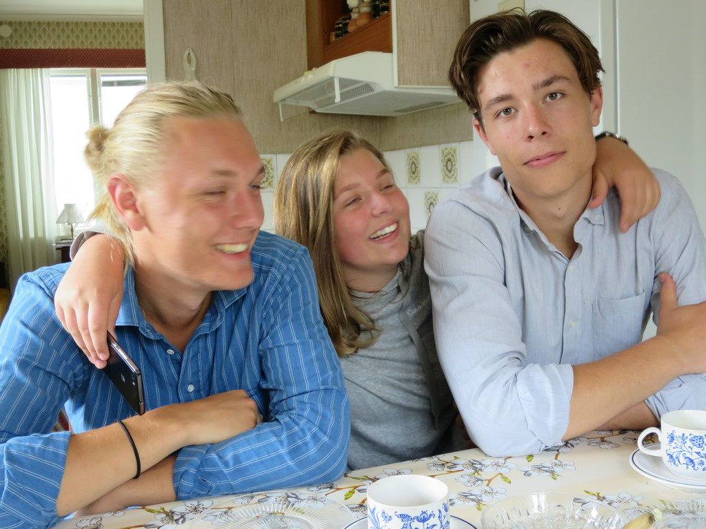 Hannes, Gerda and Måns