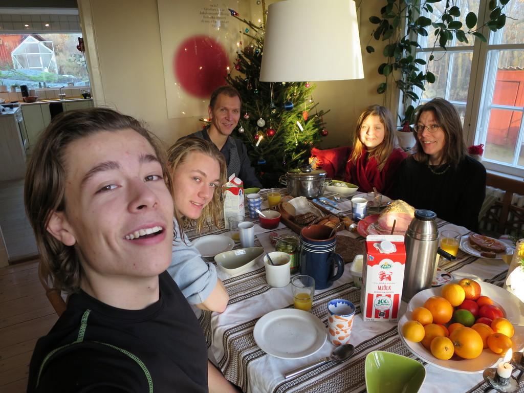Måns, Hannes, Erik, Gerda and Annie