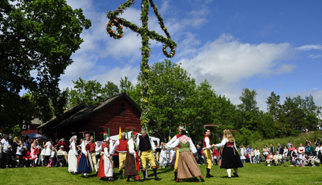 Celebrating midsummer, this year June 19-21, 2020. The brightest time in Sweden.