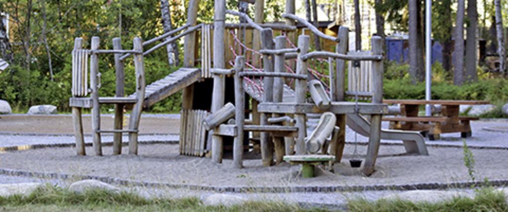 Nice playground in the woods - Sweden is very childfriendly