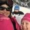 Sofia, Dennis and Selma enjoying the sun and snow