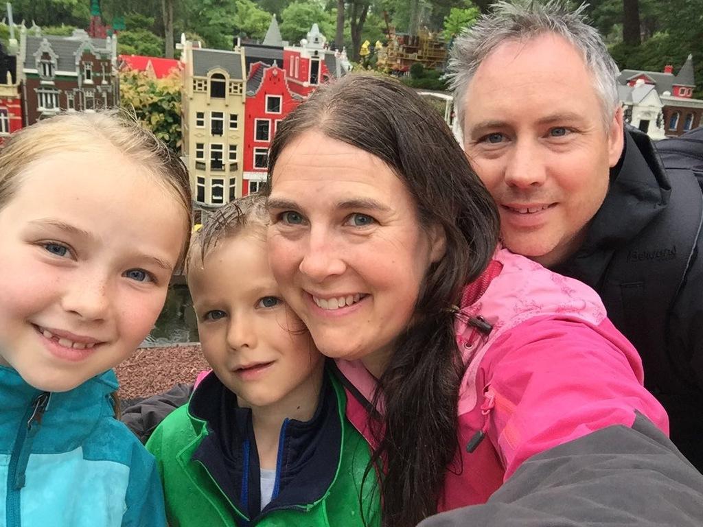A rainy but happy day at Legoland