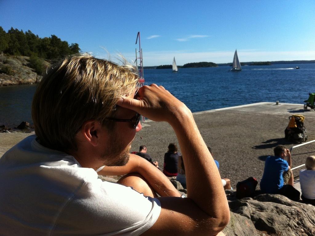 Martin in the Stockholm archipelago