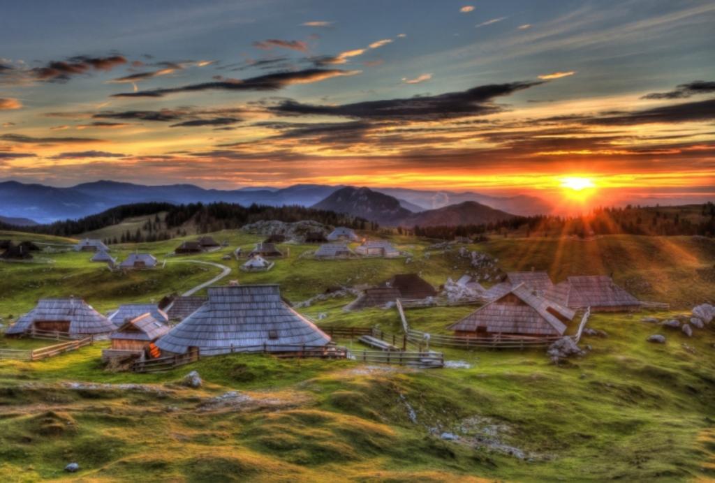 Velika planina, an idyllic herdsmen village