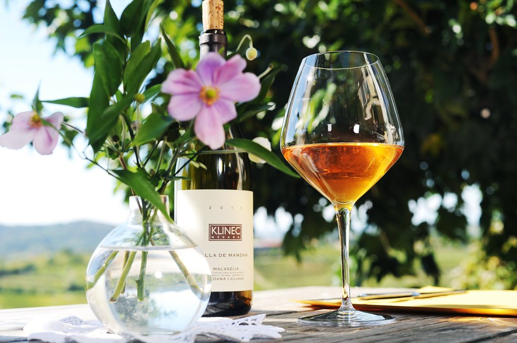 I love xcellent domestic food and organic wines in Turistična kmetija Klinec, Slovenian Toscany (1,5 hour  from my home)