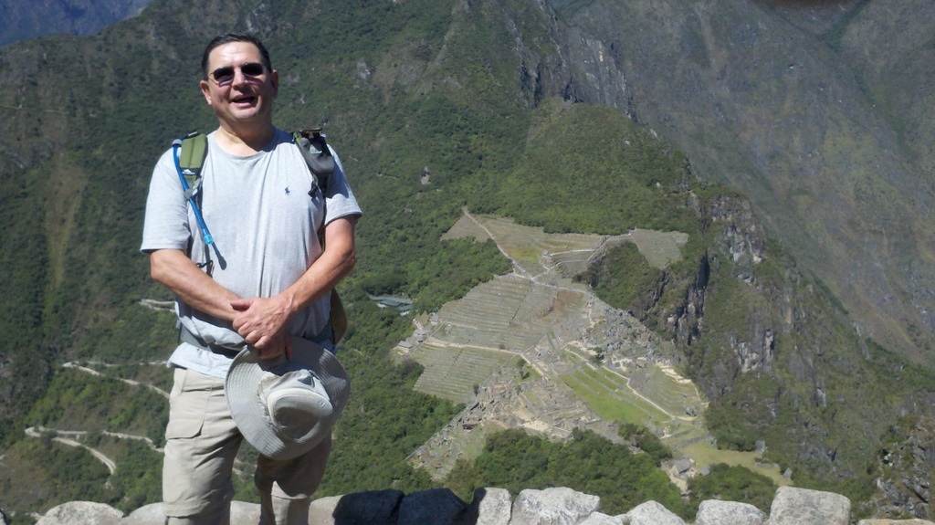 at top of Huayna Picchu