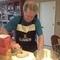 Patrick baking bread.