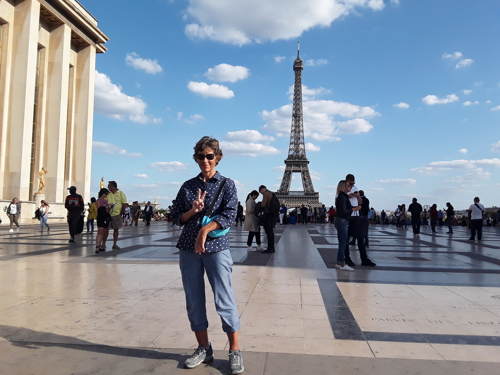 Barbara enjoying Paris.