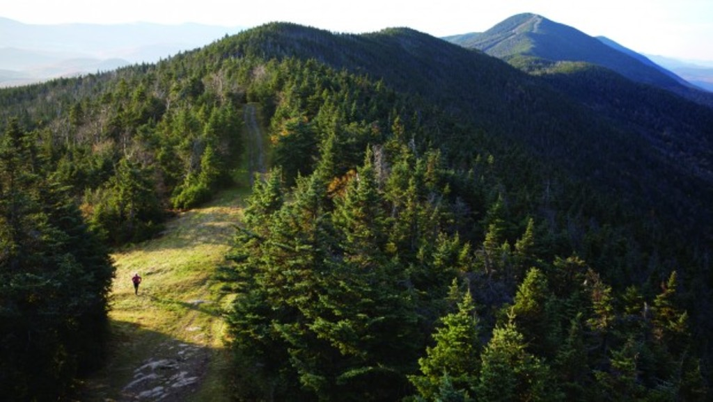 A trail runs over the crest of the Worcester Mountain Range