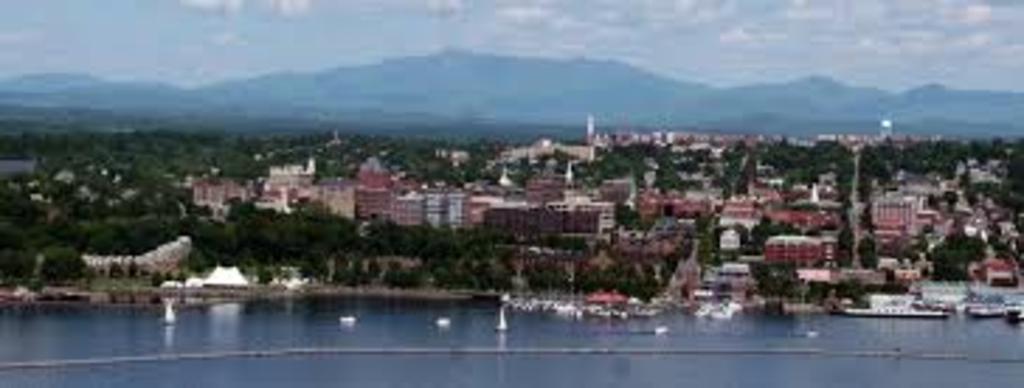 Burlington, Vermont is on Lake Champlain