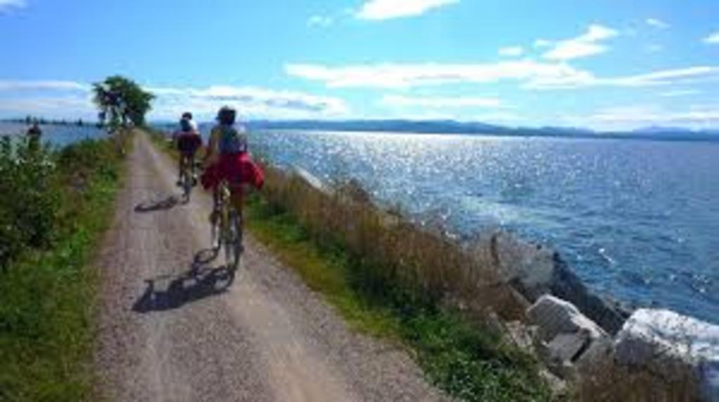 Biking Lake Champlain