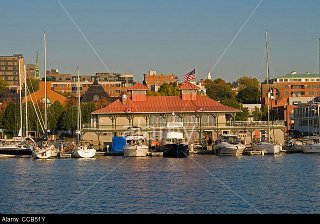 Burlington's Boat House on Lake Champlain