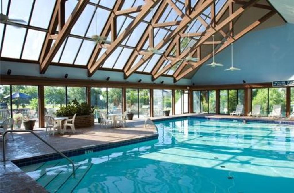Indoor pool with morning aqua-exercise classes