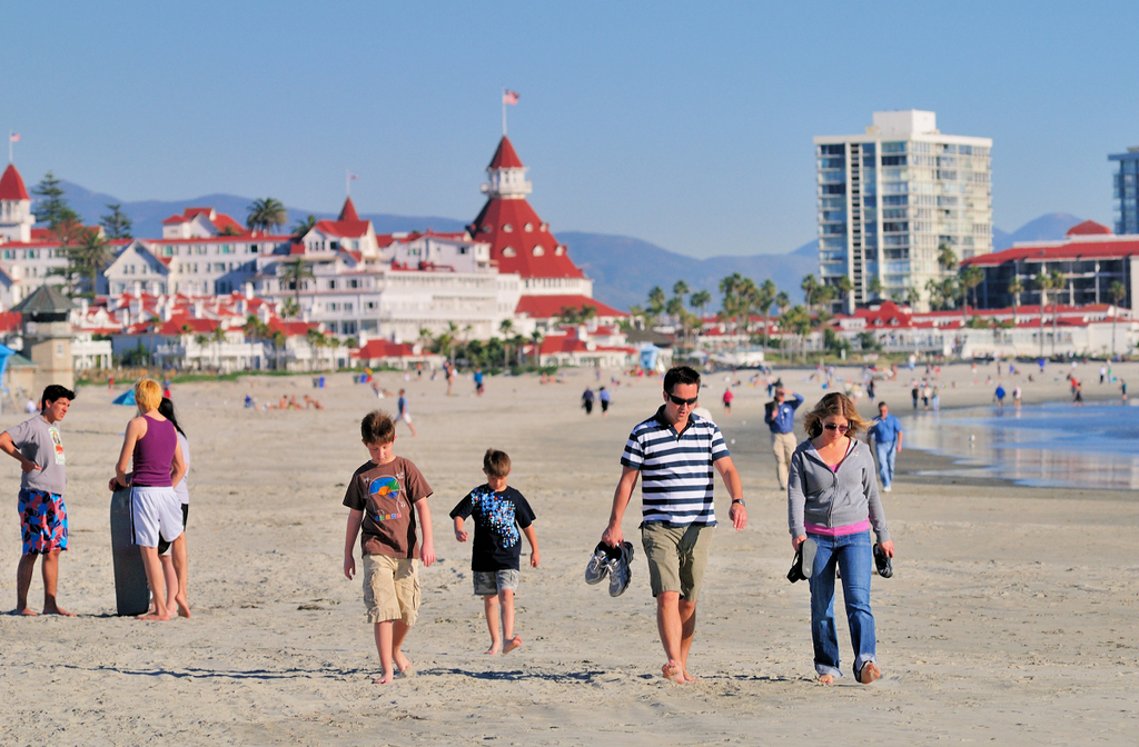 Families love the beach and our great weather!
