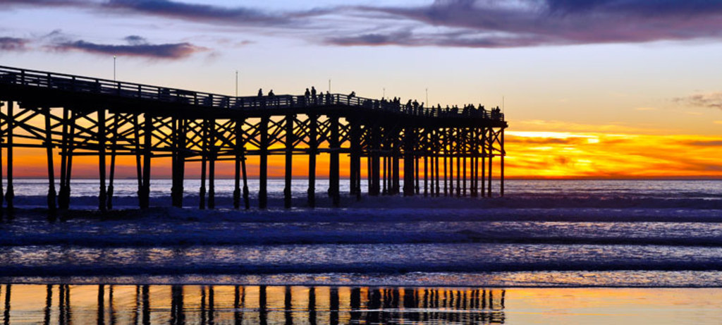 Sunset at Crystal Pier.