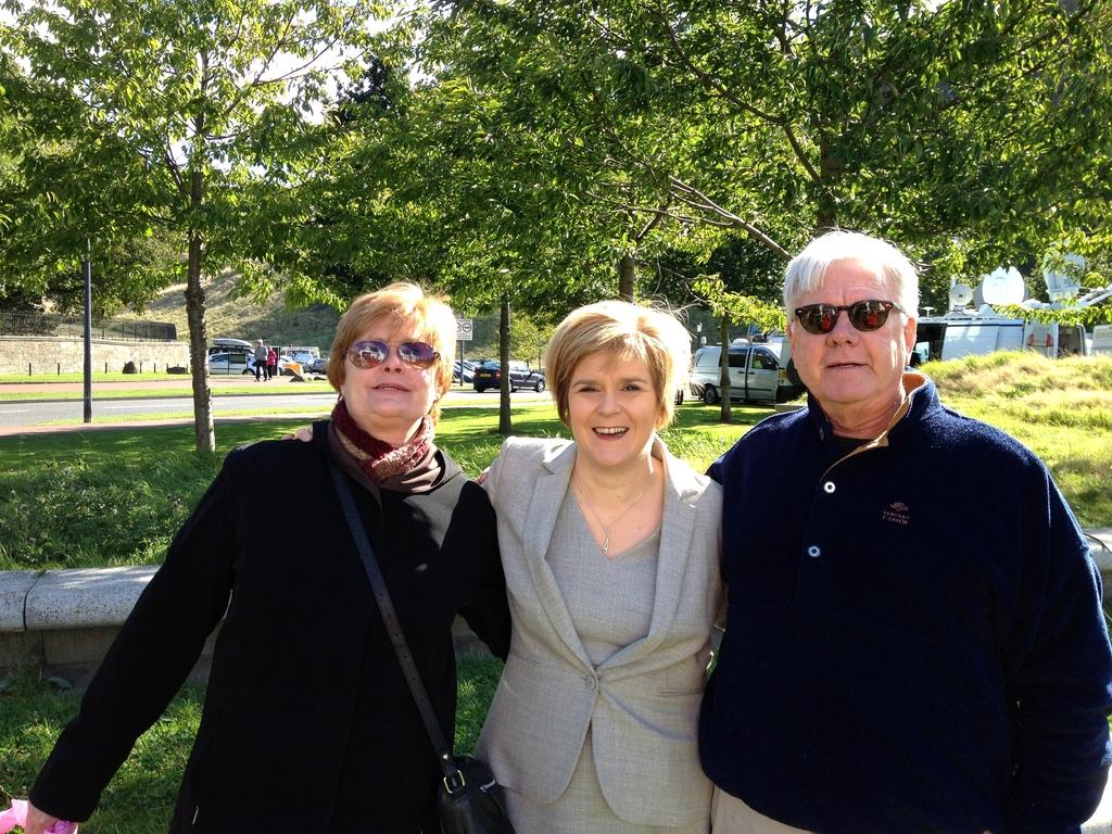 Sept 2013 - Scotland--- Us in Edinburgh with the Deputy Prime Minister of Scotland