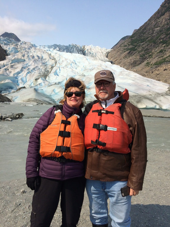 2015- After air, ship, bus, hike, canoe, and a walk to a glacier in Alaska