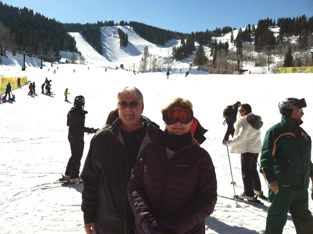 Feb 2013- Us in Utah skiing