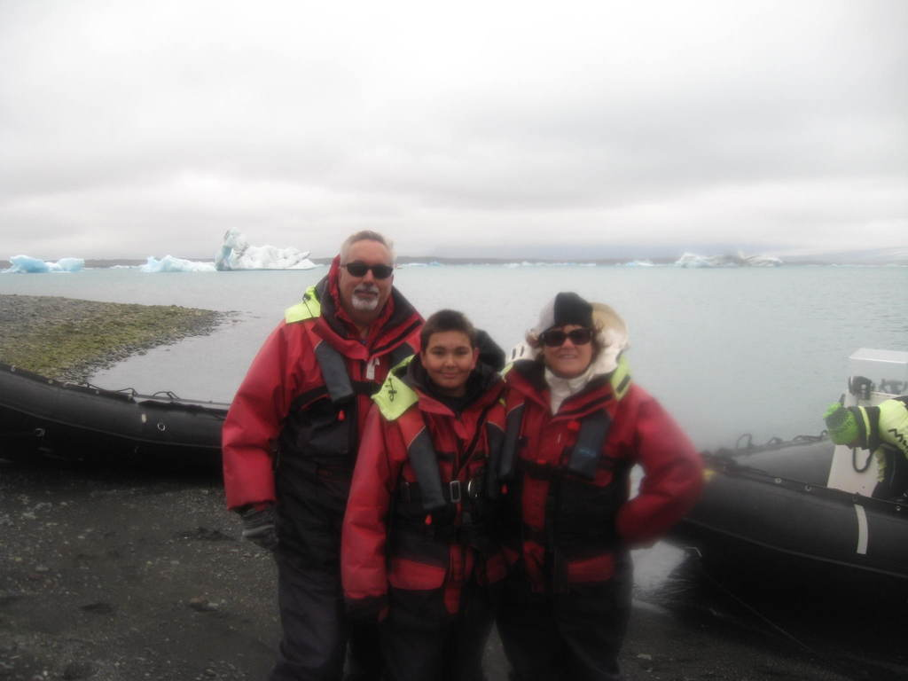 Our family at the Ice Lagoon in Iceland, Summer 2015