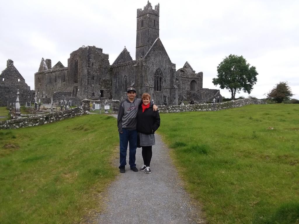 Jennifer & George in Quin, Ireland in 2019.